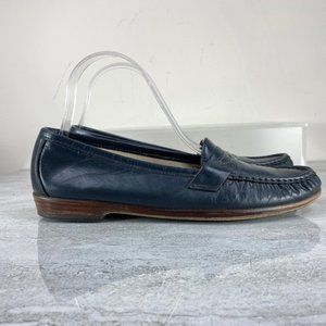 SAS Blue Leather Loafers